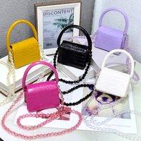 Teenage Girls Handbags Fashion Kids Bag Girl Bags Childrens Accessories Crystal Chain Mini Purses Handbag Leather
