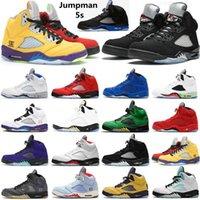 2022 5 5S أحذية رجالي أحذية رياضية ما الأسود الشاش الأبيض X الشراع جزيرة الوردي الأخضر بلوبيرد SE أوريغون الرجال المدربين