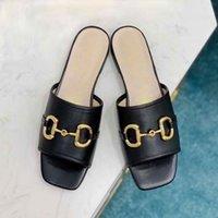 Tasarımcı Güzel Moda Yaz Sandalet Rahat Ve Rahat Kadın Ayakkabıları Deri Ofis Büyük Düz Dipli Kare Başkanı Yumuşak Taban Aç Toe Terlik 35-42