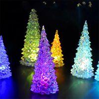 arbol navidad nuovo colorato led natale albero fibra ottica notturna decorazione luce lampada mini decorazioni albero di Natale per la casa 709 k2