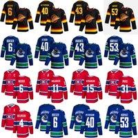 Hockey-Trikots 40 Elias Pettersson 6 Boeser 53 Horvat 43 Quinn Hughes 4 Beliiveau Shea Weber 11 Brendan Gallagher 31 Carey Preis