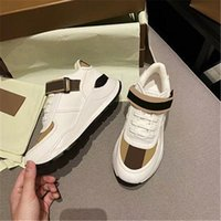 2021 Men Designer striped shoes Vintage Sneakers Leather Chunky Sneaker Women season Shades Lace-up Trainers Platform Casual Sho