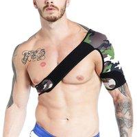 Sütyen Setleri erkek Fitness Neopren Spor Bir Omuz Vücut Göğüs Kas Demeti Kemer Kayışı Erkek Seksi Tank Top Gay Lingerie Egzotik Clubwear
