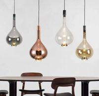 جديد postmodern الإبداعية الزجاج الشمال مطعم قلادة مصباح غرفة نوم السرير بسيطة شخصية قلادة الأنوار