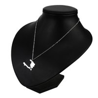 Europe And The United States Popular Jewelry Stainless Steel Haiti Map Necklace