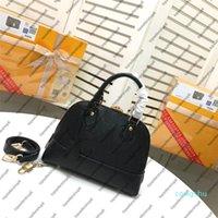 M44832 Neo Alma PM Embreagem Embreagem de Couro de Couro Studs Top Handle Mulher Designer Bolsa Messenger Bolsa Crossbody Shoulder Bag