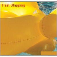 Pool flutua jangada 82.6 * 70.8 * 43.3inch natação pato amarelo flutua jangada engrossar gigante pvc pato inflável poo qyldzx hairclippersshop