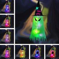 Ev Cadılar Bayramı Şapkalar Cadı Şapka Aydınlık Hayalet Kapaklar Çevre Düzeni Sahne Partisi Atmosfer Dekorasyon Hayaletler Kolye LED ZZD9208