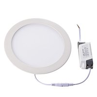Lampe de panneau LED ultra mince AC110 / 220V Plafonniers encastrés 3W 4W 6W 9W 12W 15W 18W 24W 24W Lampe d'éclairage intérieur de plafond Downlight