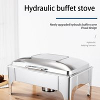 Kitchen dining bar deluxe hydraulic buffet stove thickened stainless steel high temperature stoves resistant visual flip electric insulation pot