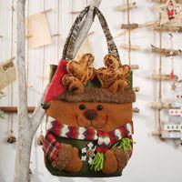 Bambini creativi regalo di natale borse pupazzo di neve elk santa caramelle borse da cristma decorazioni per la casa GWE5287