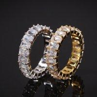 Joyas de lujo de alta calidad Joyería para hombre Anillos Hip Hop Bling Diamond Silver Gold Anillo de oro Promesa de boda Pandora Style Champio