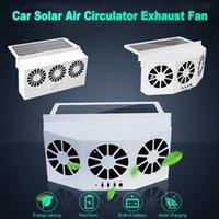 Ventilatore di scarico dell'auto solare / USB Dual Charging Attrezzo di raffreddamento del veicolo di ricarica Auto Auto Air Air Circulation Fans Scarico