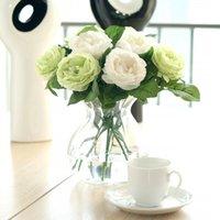 Artificial Rose Peony Flower Flower Valentines Dia Festival Presente Anniversary Casamento Casa Ramalhete Festa De Escritório De Escritório Decoração 132 V2