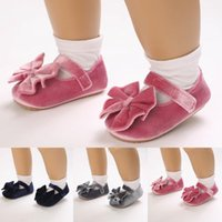First Walkers Baby Shoes Breathable Toddler Born Infant Girls Fashion Bowknot Soft Solid Princess Prewalker