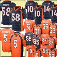 """58 VON Miller 5 Teddy Bridgewater Jersey 10 Jerry Jeudy 31 Justin Simmons Courtland Sutton Javonte Williams Denver """"Broncos"""" Jerseys Bradley Chubb 55"""