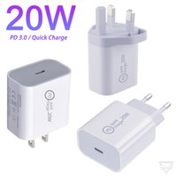 20W PD USB Wall Chargers Power Delivery Quick Charger Adapter TYPE C Plug Fast Charging for Samsung iPhone 12 11 Pro max