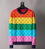 女性デザイナーのセーターのための高級服レディースセーターカジュアルニットコントラストカラー長袖秋ファッションクラシックレディースカラーコットン