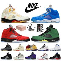 Nike Air Jordan Retro 5 off white Jordan 5 5s With Box Mens 농구화 Jumpman Fire Red Raging Bull Oregon Ducks Alternate Grape trainers 스니커즈
