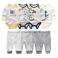 Otoño Invierno Body Bodysuits + Pantalones para bebés Conjuntos de ropa recién nacido Trajes de algodón Boys Girls Disfraz Roupa de Bebe Ropa de bebé Y1113