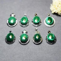 Decorative Objects & Figurines 1pcs Beautiful Natural Malachite Lady Pendant Wholesale Necklace Gem Birthday Gift