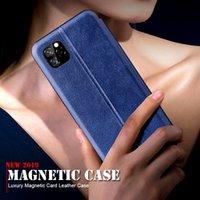 مغناطيسي مع بطاقة جلدية بطاقة لآيفون 11 برو 11 برو ماكس 6 7 8 زائد X XR XS ماكس غطاء الهاتف على iphone11 6.1 6.5 كوكه فوندا