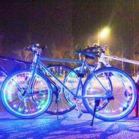 6 Color 20LED Fairy Light String Bicycle Lamp Wheel Rim Spoke Clip Tube Safety Warning Light Reflector Bicycle Garland DIY Decor