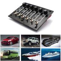 Voor Auto Marine Ship Caravan RV DC12 / 24V aan / uit Rocker Toggle Car Switch Panel met zekeringbescherming 6 Gang label Stickers