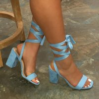 Sandals Summer Women Thin High Heels Shoes Gladiator Ankle Strap Sexy Female Party Wedding Ladies Big Size