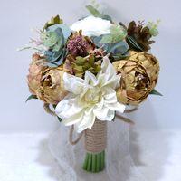 Matrimonio seta fiori artificiali rose bouquet da sposa per damigelle d'onore accessori da sposa bouquet da sposa bouquet da sposa bouquet