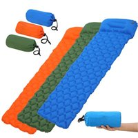 Outdoor Pads Nylon TPU Sleeping Pad Lightweight Moisture-proof Air Mattress Portable Inflatable Camping Picnic Blanket