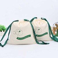 Presente Envolva a personalização Logo Cartoon Animado Alfabeto Impresso Sacos Doces Bolinhos de Alimentos Embalagem