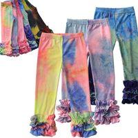 Baby Girl Leggings Pantalones ajustados Torre de niño Tinte Imprimir Niño Largo Lace Mallas 3-6 T Ropa Elástica Flaca
