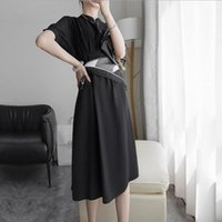 Giysi Vestido Bodyco Moda Tasarımcısı Yaz Kadın Elbise Siyah Uzun Zarif Bayanlar Simplee Gevşek Günlük Elbiseler 2021