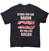 Men's T-Shirts On Sale Fashion Summer Short Sleeve Either You Like Bacon Men Zomer O-Neck T Shirts