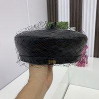 Siyah Tasarımcılar Berels Moda Bere Kapaklar Kadın Tasarımcı Şapka Yüksek Kaliteli PU Deri Şapka Bayan Resmi Kap