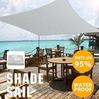 Shade Grey 300D Waterproof Polyester Tent Square Rectangle Sail Garden Terrace Canopy Swimming Sun Camping Yard Awning