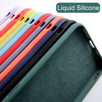 LX Brand Luxury Liquid Soft Silicone Case For iPhone 7 6 6s 8 Plus 5 5s SE X Xs 11 Pro Max XR Case Candy Color Capa Shockproof Back Cover