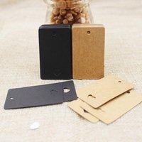 Gift Wrap 100pcs 5*3cm Heart Cut Retangular Kraft black Paper Blank Hang Tag   Wedding Favour Price Labe Custom Cost Extra