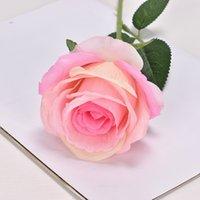 Artificial Rose Flower Real Touch Fake Rosas Longo Haste Do Casamento Buquê Para Casa Jardim Escritório Decorações De Casamento 769 K2