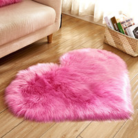 Plush Heart Shaped Mat 40*50cm 50*60cm Living Room Office Im...