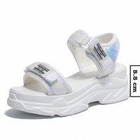 Fujin Summer Femmes Sandales Boucle Design Black White Plateforme Sandales Confortable Femmes Semelle Épais Semelle Chaussures Mens Locaafers Formel Sho M3LW #