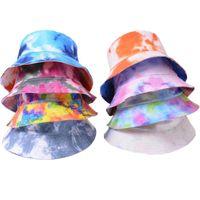 Adult Bucket Hat Fisherman Hats Reversible Fishing Colourful Graffiti Bob Caps Hip Hop Creative Tie Dye Gorros Men Women