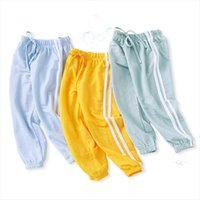 Sommer Kinder Leggings Jungen Mädchen Thin Anti Moskito Pants Candy Farbe Baumwolle Bloom Bloom Hose Baby Pyjama WZFS171