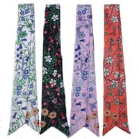 Scarves womens fashion Floral Designer scarf neckline Handbag decoration color Silk Scarfs Designers flower pattern Four colors available