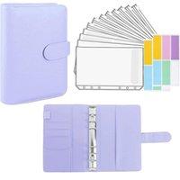 Gift Wrap A6 Binder And 12 Transparent Envelopes System Budget Planning Notepad Money Envelope Cash