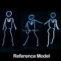 Party Dekoration Yeahui LED-Lichtkleidung EL-Drahtanzüge Beleuchtete Kostüme Kleidung Neon für Tanzglühen