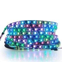 12V RGB LED الشريط، WS2811 الرقمية الصمام قطاع 12 فولت العاصمة 16.4ft 5m 30led / m سلسلة IP30 ماء أسود PCB للمنزل