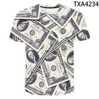 Dólar impresión Tee 2021New Tee Summer 3D T Shirt Hombres Mujeres Wear Material Soft and Com Tops Boy Girl Camiseta divertida