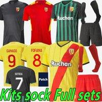 2021 2022 Maillot Lens RC Soccer Jerseys Kakuta Ganago Sotoca Fofana Gradit Fortes Banza Cahuzac Doucoure 21/22 RC Lens Camisas de fútbol Hombres Kits Kits Cockets Conjuntos completos